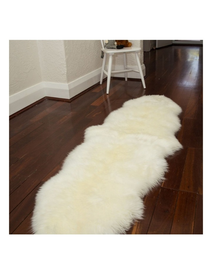 Long Wool Sheepskin Rugs - Double - Ivory image 3