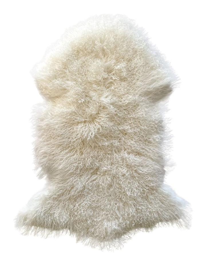 Long Wool Mongolian Sheepskin Rug - Ivory image 1