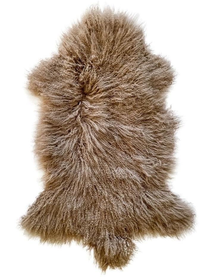 Long Wool Mongolian Sheepskin Rug - Mocha image 1