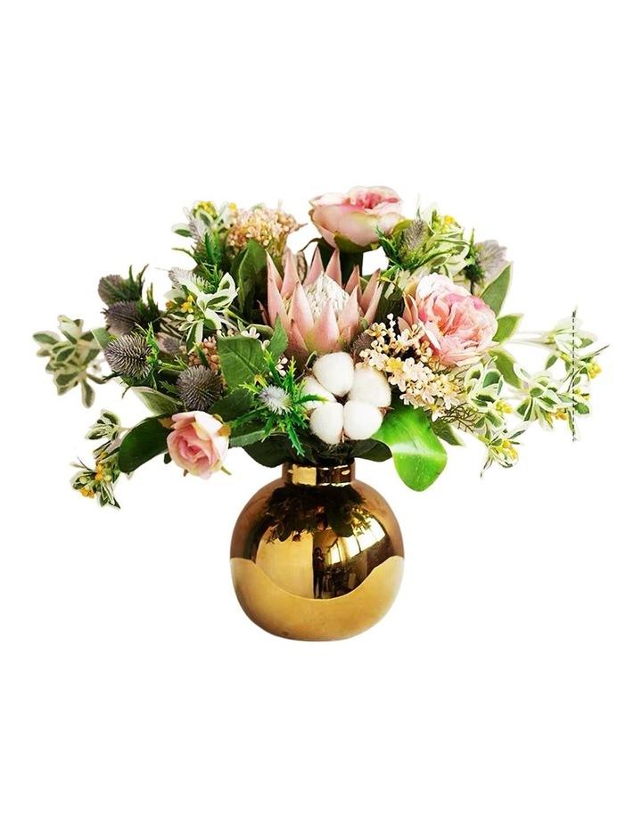 Cotton Multi Colour Rose Floral Arrangement image 1