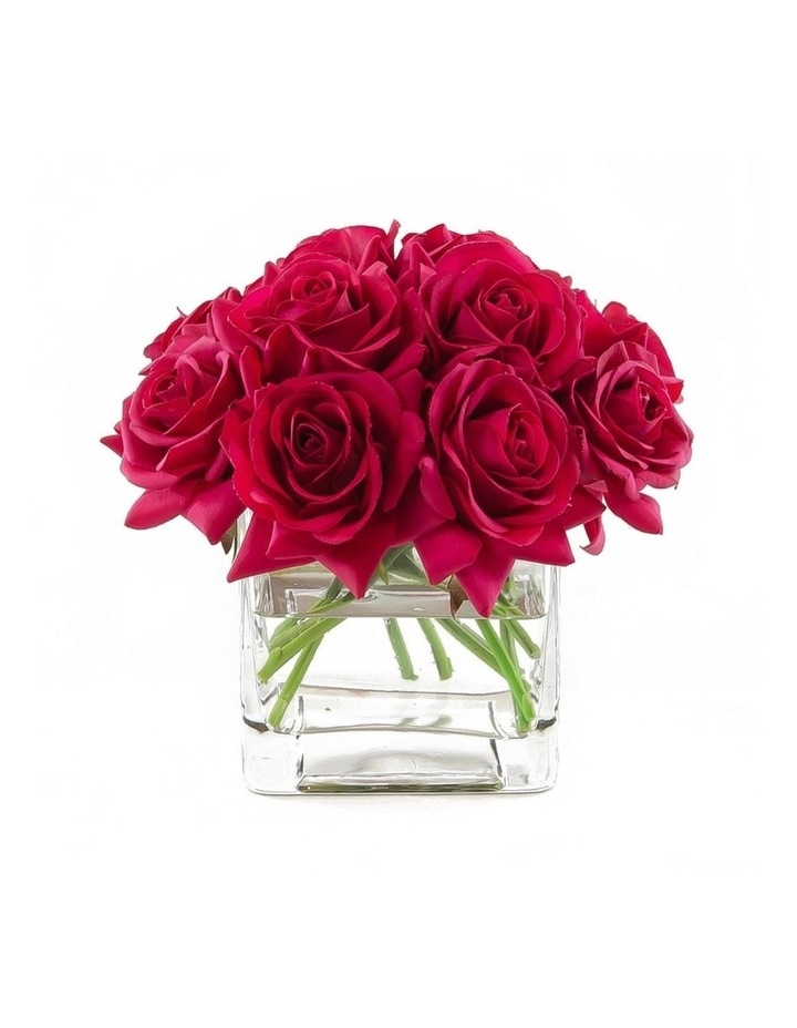 Real Touch Faux Silk Red Rose Arrangement image 1