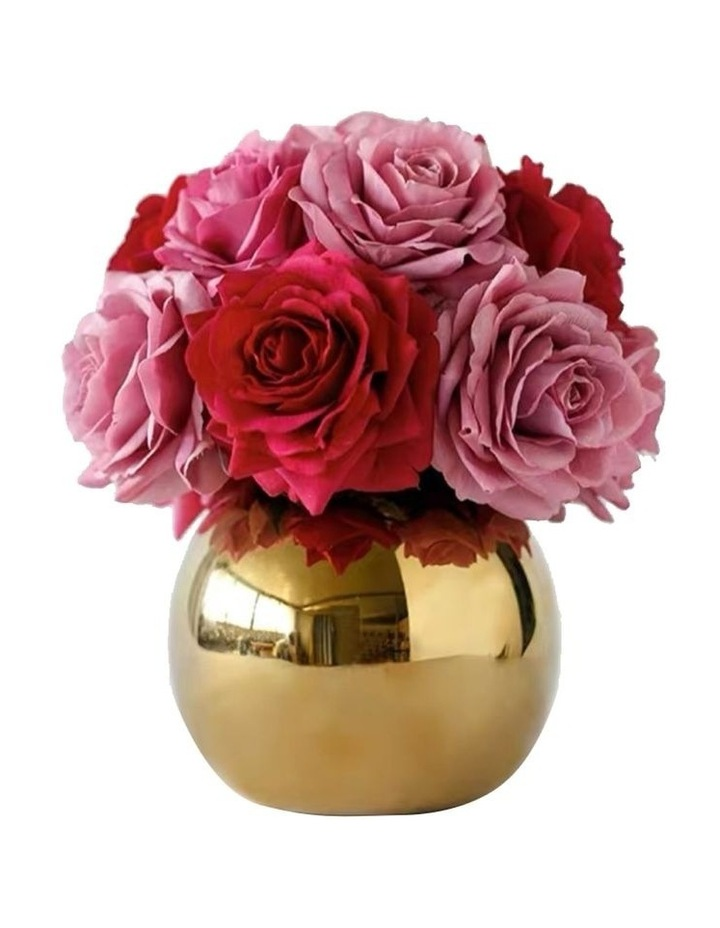 Real Touch Luxury Artificial Red and Pink Rose Arrangement image 1