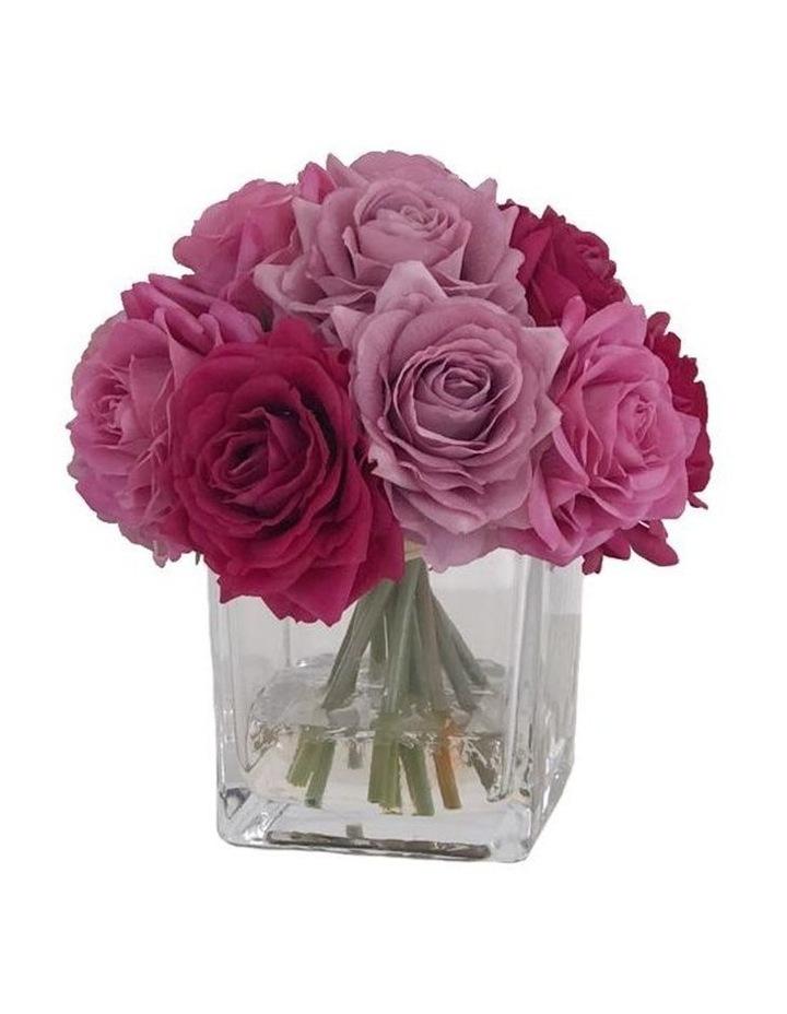 Real Touch Luxury Artificial Multi Colour  Rose Arrangement image 1