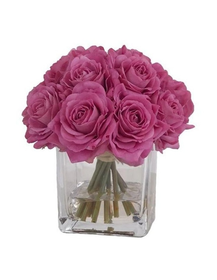 Real Touch Luxury Artificial Purple Rose Arrangement image 1