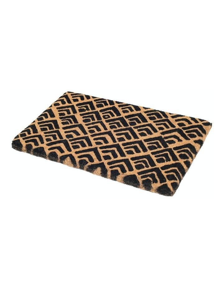 45x75cm Block Print Coir Doormat image 1
