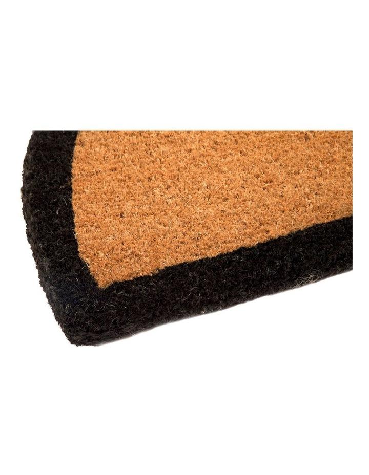 60x90 cm Black Border Half Round Coir Doormat image 2