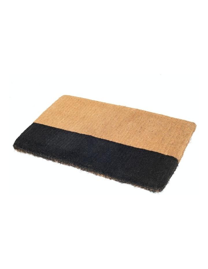 45x75 cm Black Belt Coir Doormat image 1