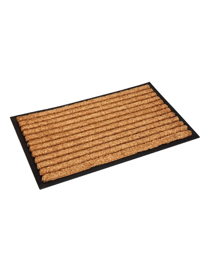 Stripes Rubber Bordered Coir Doormat 60x90 cm image 2