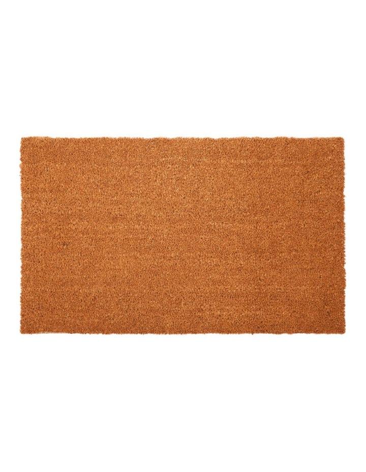 Nubra Plain Natural PVC Backed Coir Door Mat 75x120 cm image 1