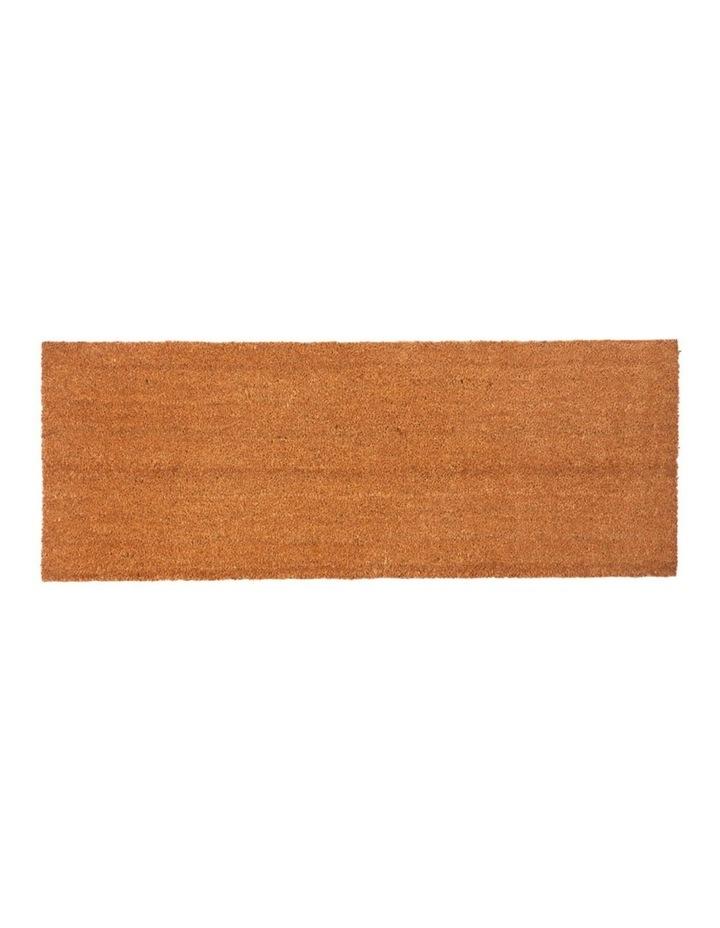 Nubra Plain Natural PVC Backed Coir Door Mat 75x120 cm image 2