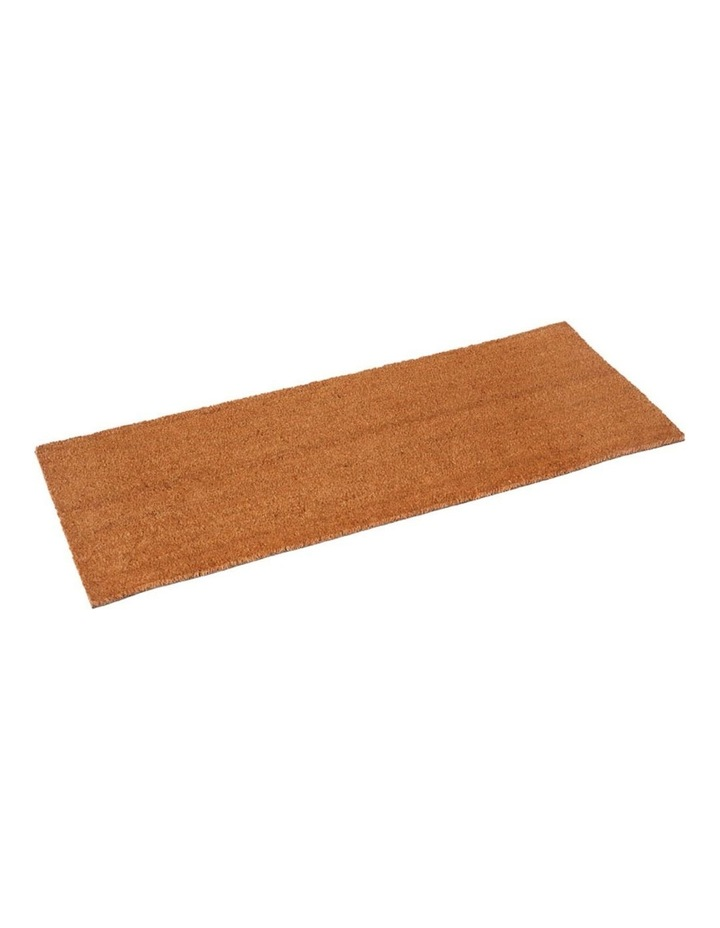 Nubra Plain Natural PVC Backed Coir Door Mat 75x120 cm image 3