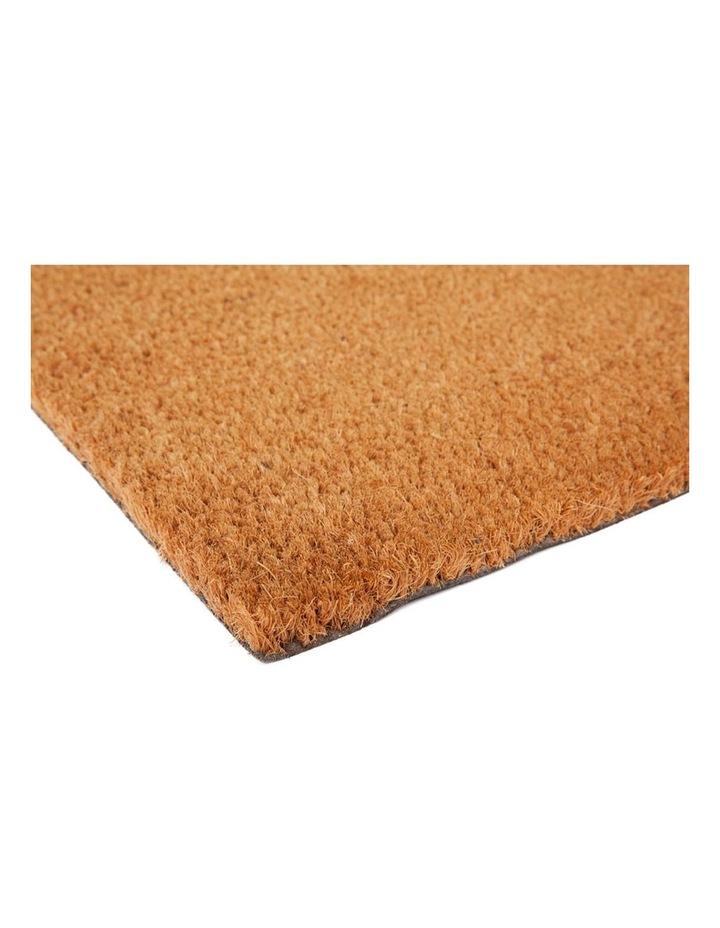 Nubra Plain Natural PVC Backed Coir Door Mat 75x120 cm image 4