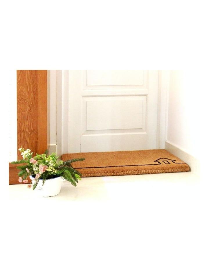 45x75cm Ghar Natural 100% Coir Doormat image 2