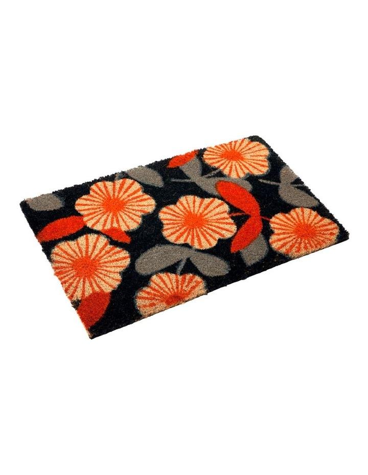 Floral PVC Backed Coir Doormat 45x75 cm image 1