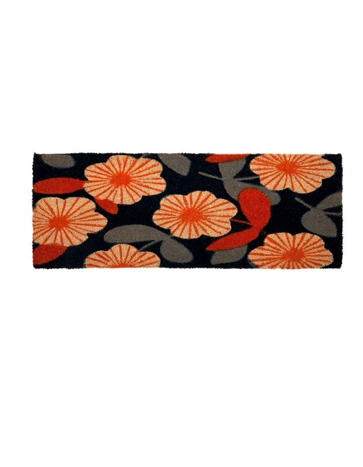 Floral PVC Backed Coir Doormat 45x75 cm image 2
