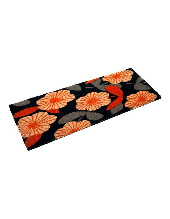 Floral PVC Backed Coir Doormat 45x75 cm image 3