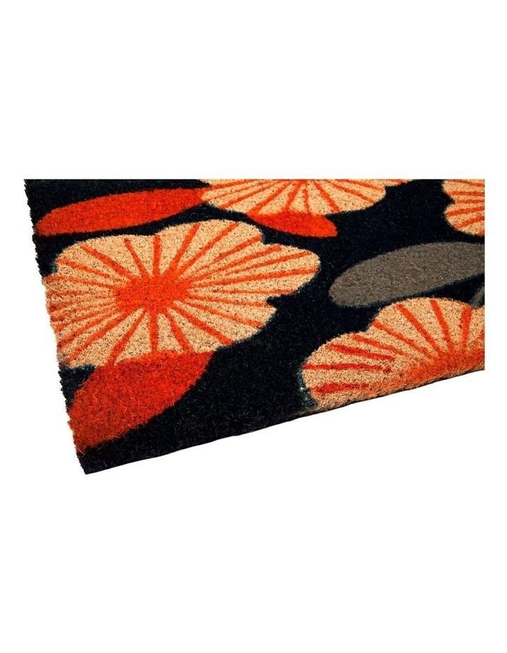 Floral PVC Backed Coir Doormat 45x75 cm image 4