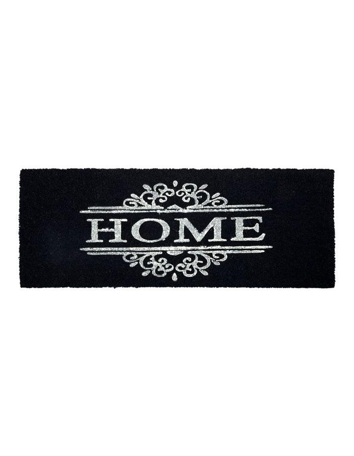 Home Dark Grey PVC Backed Coir Doormat 45x75 cm image 1