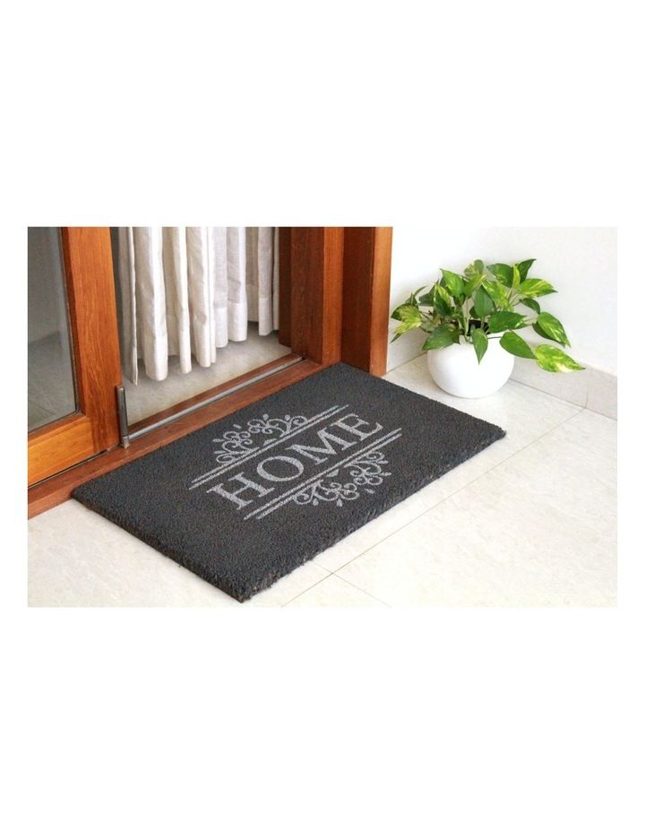 Home Dark Grey PVC Backed Coir Doormat 45x75 cm image 4