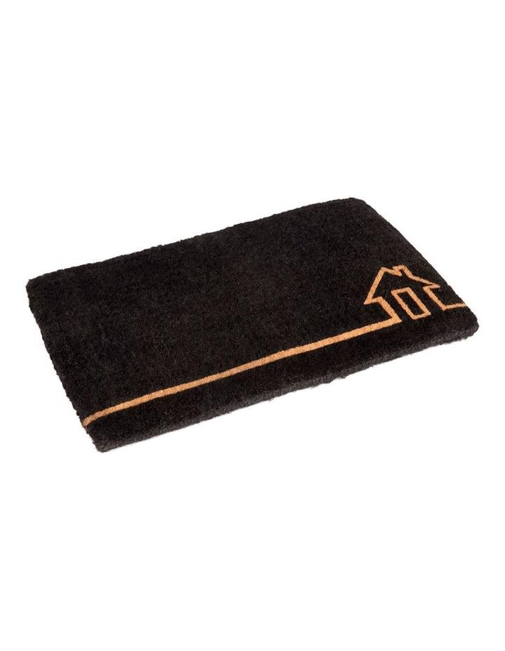 45x75 cm Ghar Black Coir Doormat image 1