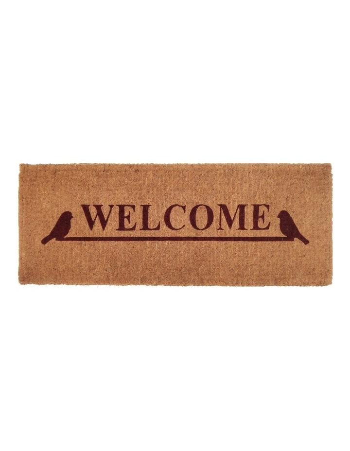 Welcome Coir Doormat 45x120 cm image 1