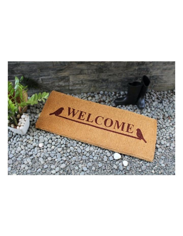 Welcome Coir Doormat 45x120 cm image 3