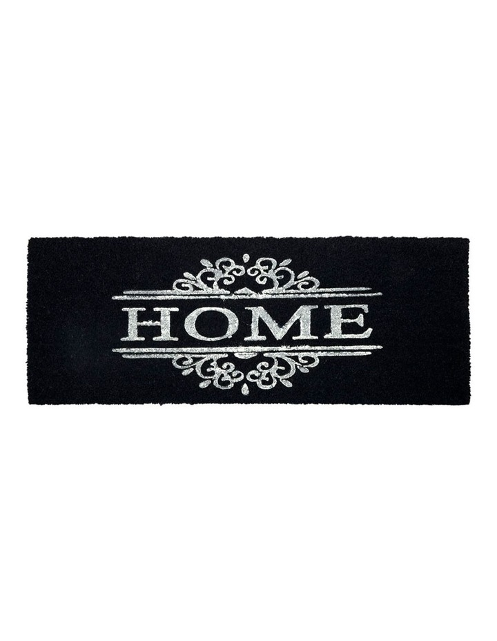Home Dark Grey PVC Backed Coir Doormat 75x120 cm image 1