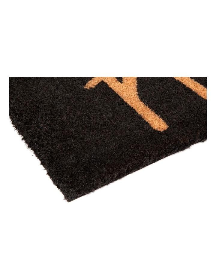 Hello - Black PVC Backed Coir Doormat 45x75 cm image 4