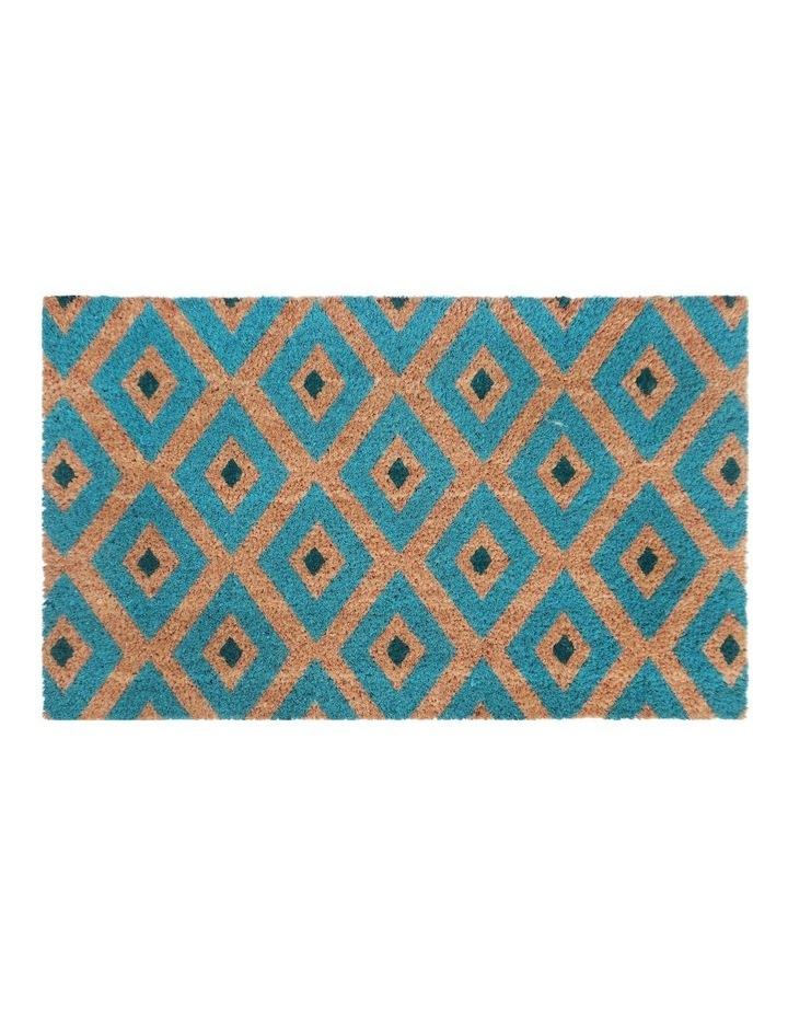 Kimberley Blue PVC Backed Coir Doormat 45x75 cm image 1