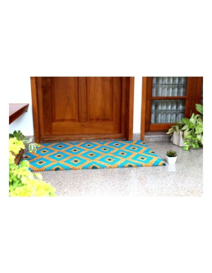 Kimberley Blue PVC Backed Coir Doormat 45x75 cm image 2