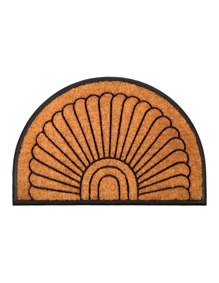 60x90 cm Kochi Half Round Rubber and Coir Doormat image 1