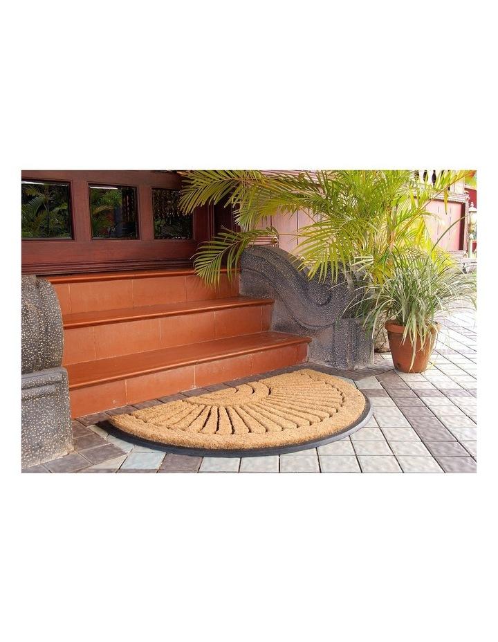 60x90 cm Kochi Half Round Rubber and Coir Doormat image 3