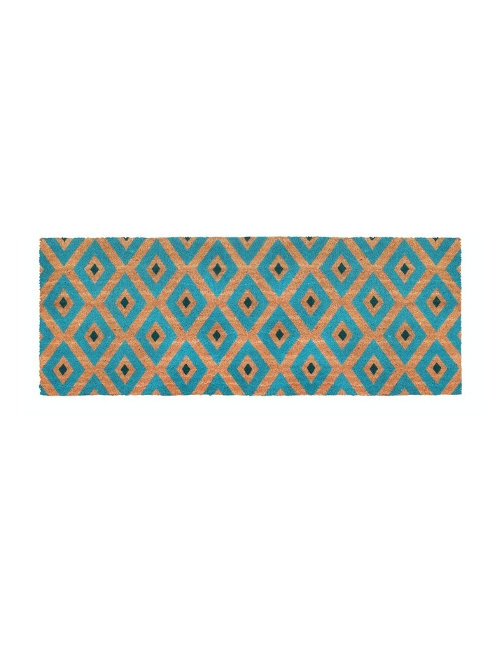 Kimberley Blue PVC Backed Coir Doormat 75x120 cm image 1