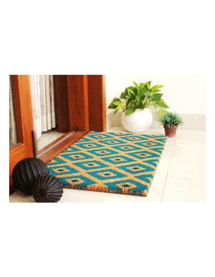 Kimberley Blue PVC Backed Coir Doormat 75x120 cm image 3