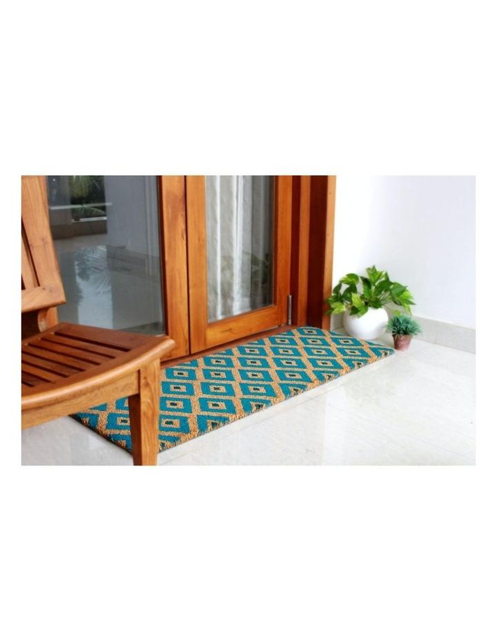 Kimberley Blue PVC Backed Coir Doormat 75x120 cm image 4