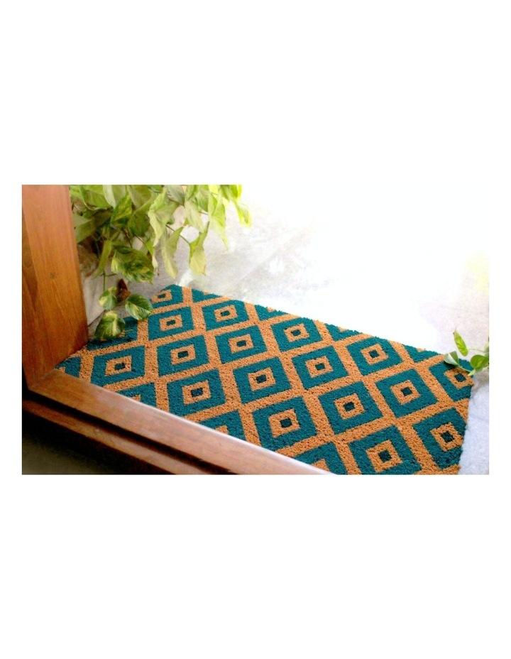 Kimberley Blue PVC Backed Coir Doormat 75x120 cm image 5