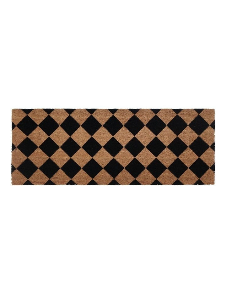 Diamond PVC Backed Coir Doormat 45x120 cm image 1