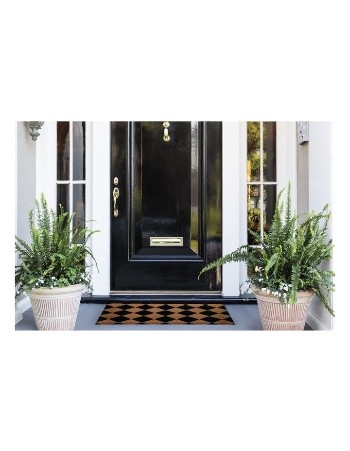 Diamond PVC Backed Coir Doormat 45x120 cm image 2