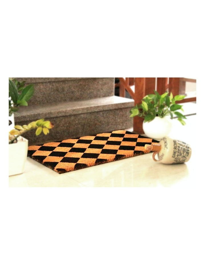 Diamond PVC Backed Coir Doormat 45x120 cm image 5