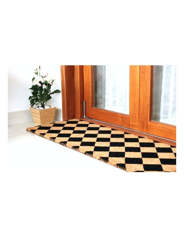 Diamond PVC Backed Coir Doormat 45x120 cm image 6