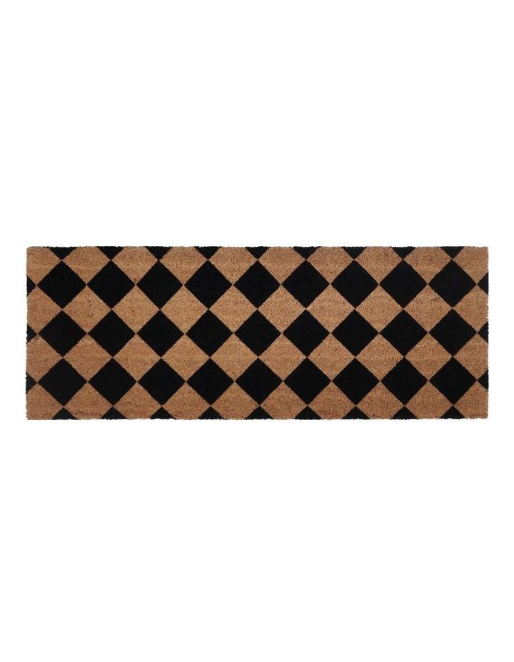 Diamond PVC Backed Coir Doormat 45x75 cm image 1