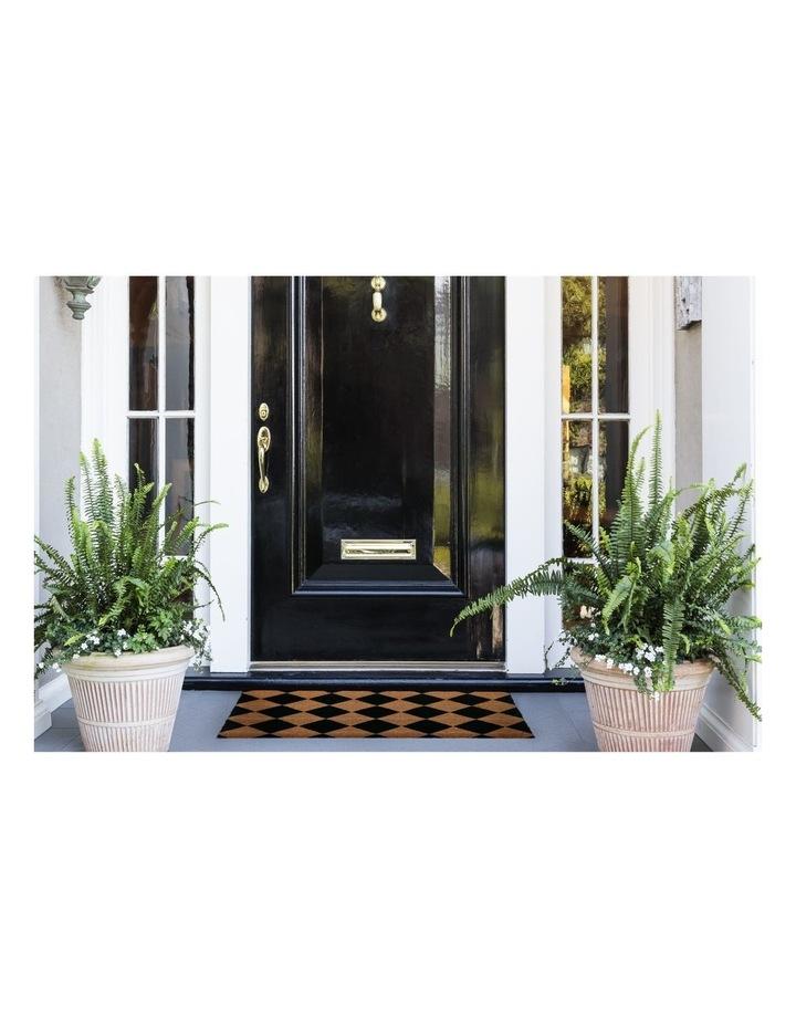Diamond PVC Backed Coir Doormat 45x75 cm image 2