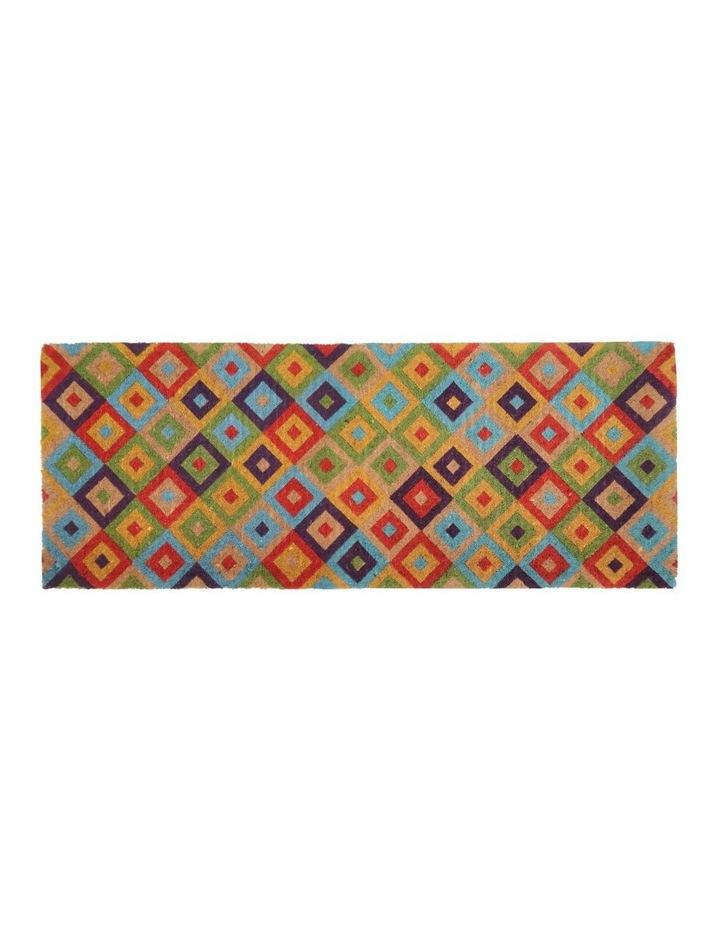 Saman Multicolor Coir Doormat 45x120 cm image 1