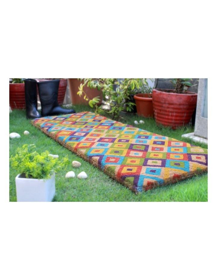 Saman Multicolor Coir Doormat 45x120 cm image 4