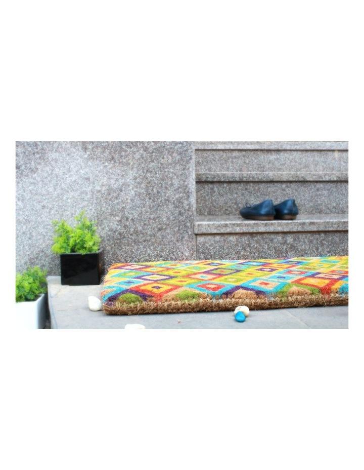 Saman Multicolor Coir Doormat 45x120 cm image 5