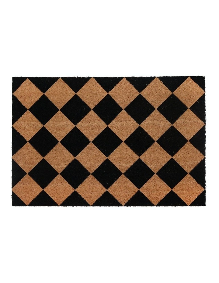 Diamond PVC Backed Coir Doormat 60x90 cm image 1