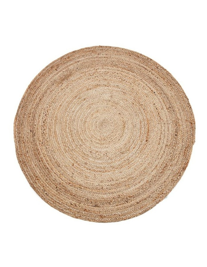 200cm Round Jute Rug | Decorative Floor Rug Phoenix Natural image 1