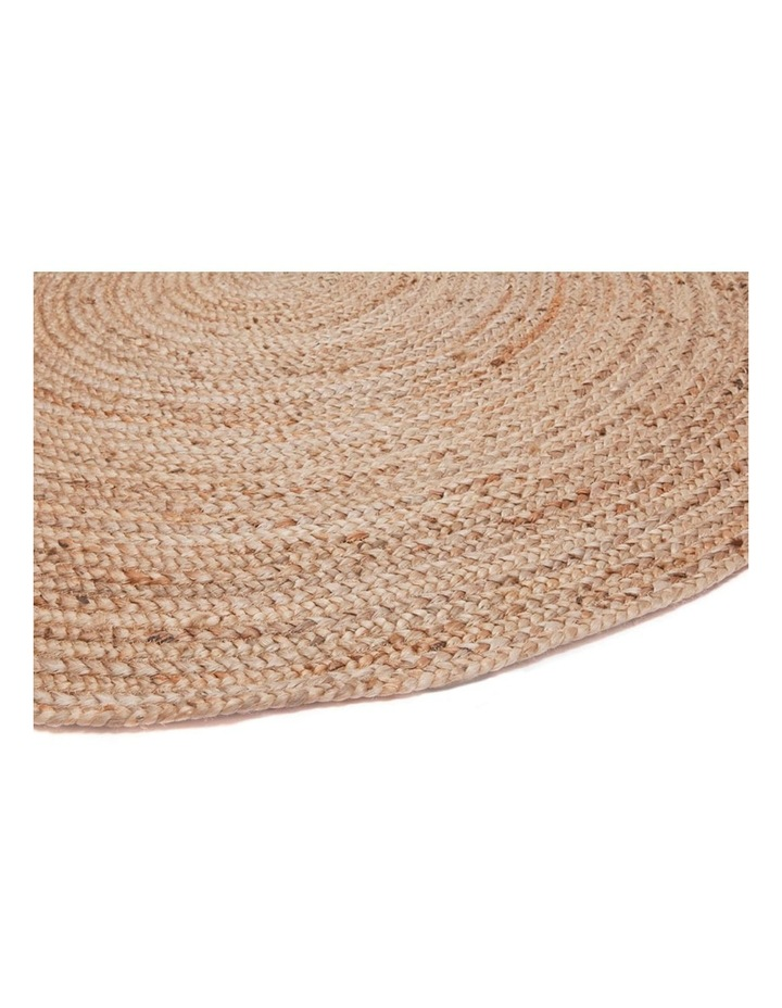 200cm Round Jute Rug | Decorative Floor Rug Phoenix Natural image 2