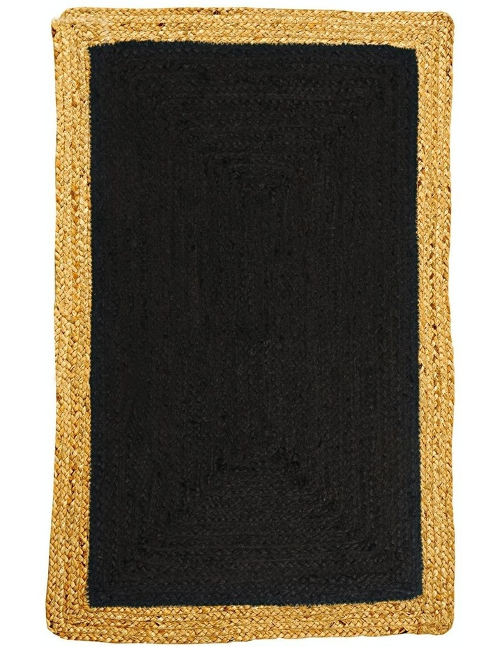 90x150cms Phoenix Black Jute Rug image 1