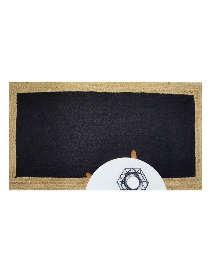 90x150cms Phoenix Black Jute Rug image 3